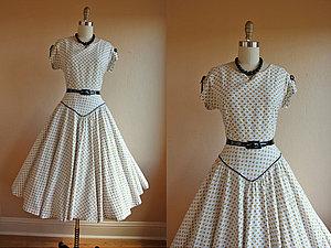 Новые ткани для платья в стиле ретро | Ярмарка Мастеров - ручная работа, handmade