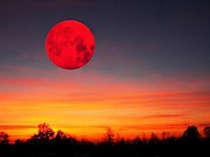Кровавая Луна (Полное Лунное Затмение) 28 Сентября 2015 Года | Ярмарка Мастеров - ручная работа, handmade