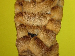 Шуба из лисьего меха.   Ярмарка Мастеров - ручная работа, handmade