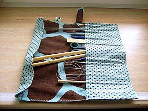 Чехол-пенал для спиц и крючков | Ярмарка Мастеров - ручная работа, handmade