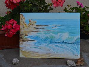 """Мастер-класс по живописи. Картина """"Свежее дыхание волны"""". Ярмарка Мастеров - ручная работа, handmade."""
