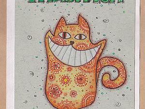 Как  я  делаю  рисованные открытки | Ярмарка Мастеров - ручная работа, handmade
