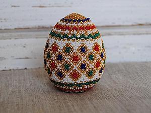 Оплетаем пасхальное яйцо бисером. Ярмарка Мастеров - ручная работа, handmade.
