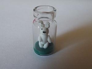 Миниатюра зайка в  бутылочке подручными инструментами. Ярмарка Мастеров - ручная работа, handmade.