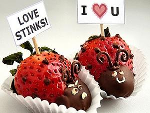 Вкусное поздравление в День всех влюбленных | Ярмарка Мастеров - ручная работа, handmade