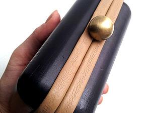 Декорирование клатч-бокса: легко и красиво обтягиваем рамку кожей.. Ярмарка Мастеров - ручная работа, handmade.