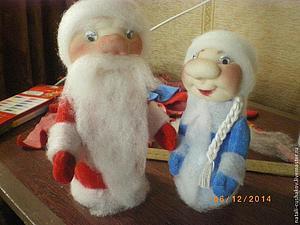 Дед Мороз и Снегурочка — поделка в детский сад. Часть 1