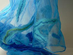 Валяем на шёлке Осенний  шарфик   Ярмарка Мастеров - ручная работа, handmade