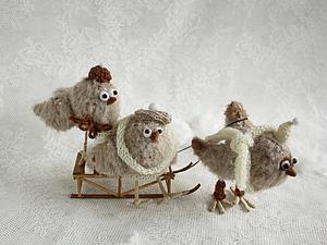 Весёлые птички из ткани   Ярмарка Мастеров - ручная работа, handmade