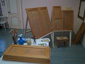 курс росписи мебели, курсы роспись мебели, мебель с росписью, строганова