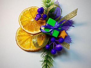 Делаем новогодний декор подарка: быстро и просто. Ярмарка Мастеров - ручная работа, handmade.