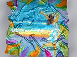 Платок с секретом - необычный батик   Ярмарка Мастеров - ручная работа, handmade