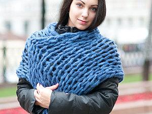 Мастер-Класс: Вяжем шарф ТОЛЬКО руками! | Ярмарка Мастеров - ручная работа, handmade