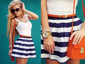 Удачное сочетание для лета — белый верх и цветная юбка. Ярмарка Мастеров - ручная работа, handmade.
