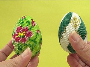 """Вязание бисером. Видео мастер-класс: """"Пасхальное яйцо из бисера"""". Ярмарка Мастеров - ручная работа, handmade."""