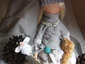 Коллекционная текстильная куколка ищет новый дом | Ярмарка Мастеров - ручная работа, handmade