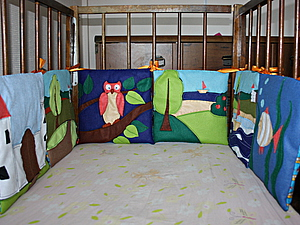 Шьем бортик для детской кроватки. Ярмарка Мастеров - ручная работа, handmade.