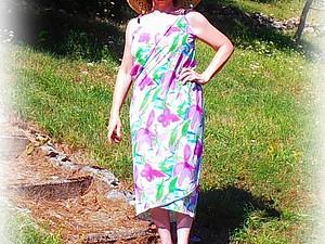 Платье для пляжа  Wickelkleid (обвивающее платье) | Ярмарка Мастеров - ручная работа, handmade