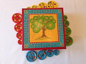 Расписываем яркую шкатулку-развивайку для детей. Ярмарка Мастеров - ручная работа, handmade.