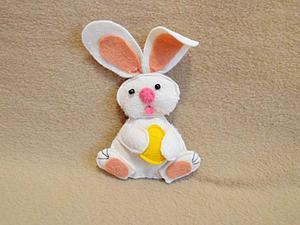 Шьем пасхального кролика из фетра | Ярмарка Мастеров - ручная работа, handmade