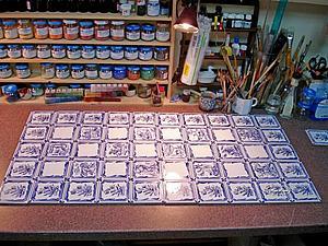 Печка с дельфтскими изразцами. | Ярмарка Мастеров - ручная работа, handmade