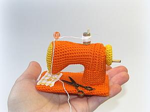 Вяжем миниатюрную швейную машину | Ярмарка Мастеров - ручная работа, handmade