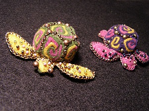 Создаем забавную черепашку из фетровых спиралей | Ярмарка Мастеров - ручная работа, handmade