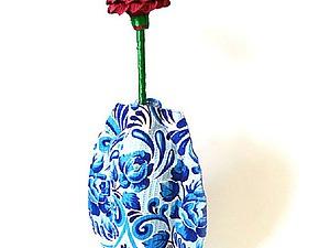 Ваза для цветов из пластиковой бутылки. Ярмарка Мастеров - ручная работа, handmade.