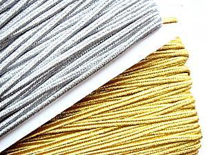 Золотой и серебренный сутаж 4мм   Ярмарка Мастеров - ручная работа, handmade
