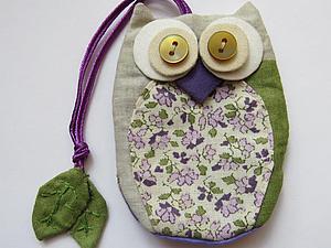 Шьем милую сову-ключницу из ткани. Ярмарка Мастеров - ручная работа, handmade.