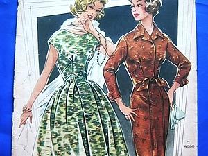 «По страницам Modenschau»: мода 50-х годов прошлого столетия | Ярмарка Мастеров - ручная работа, handmade