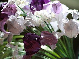 Мастер класс. Цветы из ткани