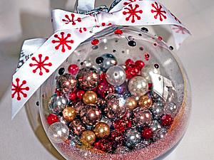 Новогодний шарик. Самый простой МК в мире :-) , handmade
