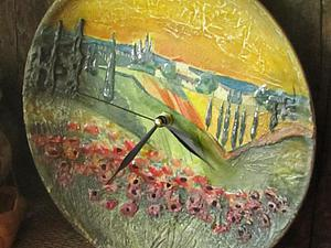 Создаем оригинальные часы на тарелке «Прованс в закате». Ярмарка Мастеров - ручная работа, handmade.