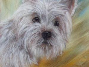 Мастер-класс по рисованию картин из сухой шерсти под стекло - Собачка или Тигр | Ярмарка Мастеров - ручная работа, handmade