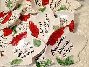 Фарфоровые рассадочные карточки | Ярмарка Мастеров - ручная работа, handmade