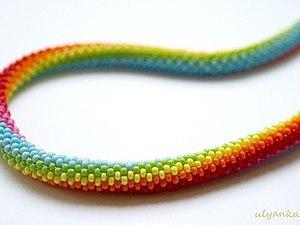 Вязание крючком жгута из бисера | Ярмарка Мастеров - ручная работа, handmade