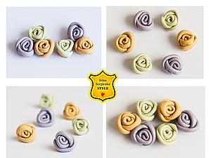 Делаем миниатюрные розочки из кожи, как заготовки для украшений, handmade
