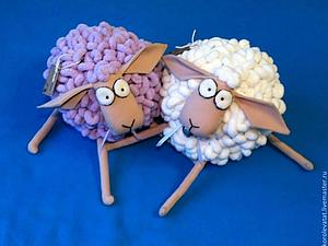 Шьем пушистую овечку. Ярмарка Мастеров - ручная работа, handmade.