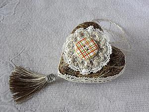 Делаем необычное сердечко из сухой травы | Ярмарка Мастеров - ручная работа, handmade