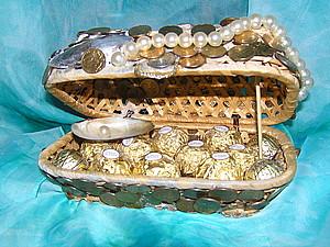 Делаем шкатулку для украшений из плетеных коробок. Ярмарка Мастеров - ручная работа, handmade.