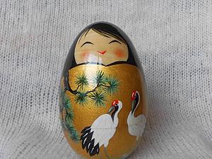Роспись японской куклы кокэси -необычный подарок к Пасхе! | Ярмарка Мастеров - ручная работа, handmade