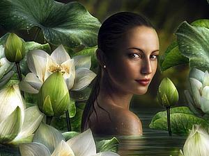 Женщина подобна цветку | Ярмарка Мастеров - ручная работа, handmade