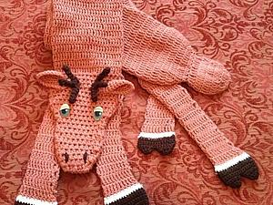 Как связать забавный шарфик в виде лося   Ярмарка Мастеров - ручная работа, handmade