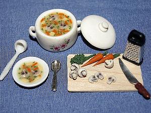 Видео мастер-класс: кукольная миниатюра «Варим суп». Ярмарка Мастеров - ручная работа, handmade.
