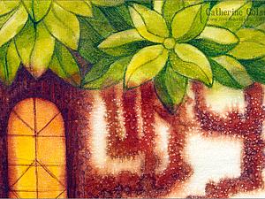 Свободная роспись по ткани: роспись по соляному грунту. Ярмарка Мастеров - ручная работа, handmade.