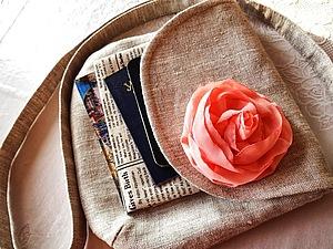Маленькая льняная сумочка через плечо! | Ярмарка Мастеров - ручная работа, handmade