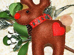 Шьем новогоднего оленя из фетра. Ярмарка Мастеров - ручная работа, handmade.
