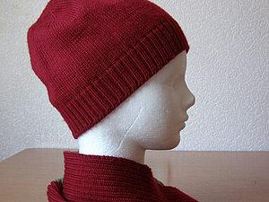Вяжем шапочку клиньями на машине. Ярмарка Мастеров - ручная работа, handmade.