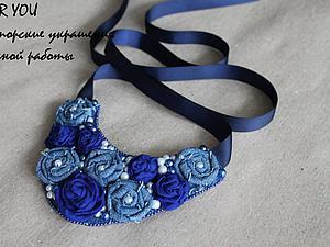 Создаем текстильное колье с розами. Ярмарка Мастеров - ручная работа, handmade.